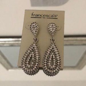 NWT silver chandelier earrings